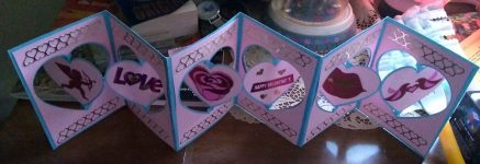 Valentines Heart Accordion Card