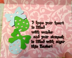 Inside of Easter Bunny Card