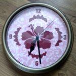 Finished flower Clock assembled
