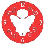 Handmade Angel Clock with swirls