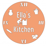 Kitchen clock made for Ella with graphics