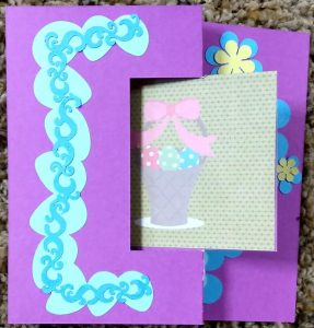 Easter Flip Card with eggs and basket