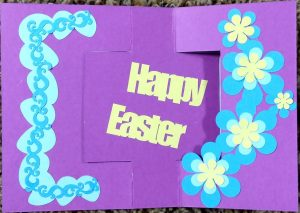 Other side of Easter flip Card