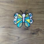Color with paper butterfly