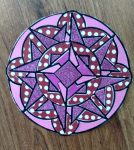 Coloring with Paper pink mandala