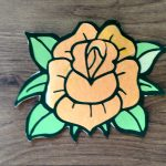 Coloring with paper orange rose