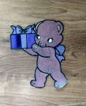 Coloring with Paper Present Bear
