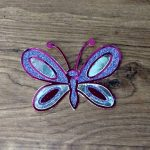Coloring with paper foil butterfly
