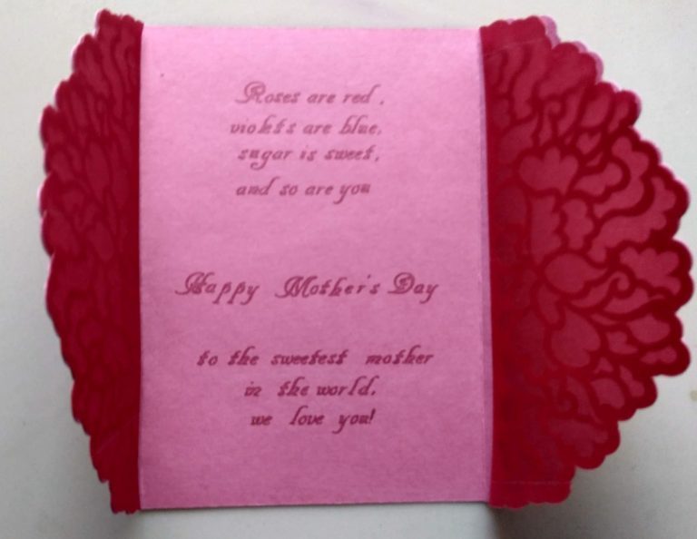 Mothers Day Card Inside