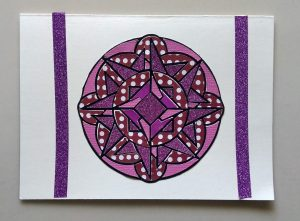 Card I made with the Mandala