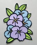 Violets: Coloring With Paper Embellishment