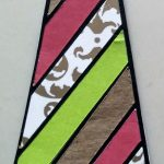 Striped Tie done with coloring with paper
