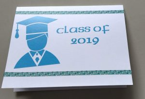 The outside of the graduate card made with permanent vinyl