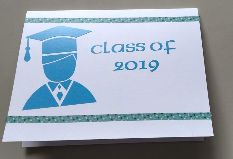 The outside of the graduate card