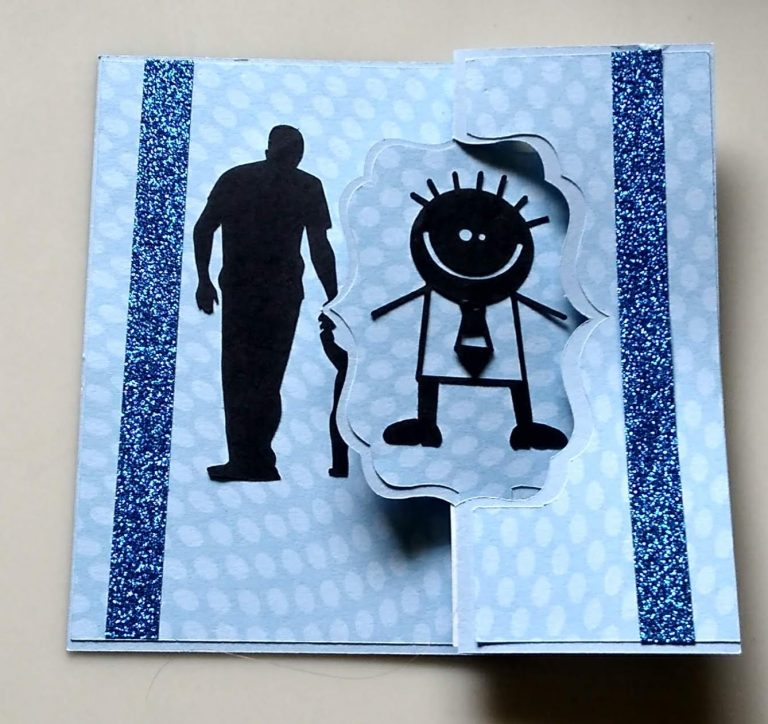 Father's Day Flip Card made in blue