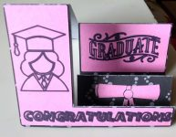 Side Step Graduation Card