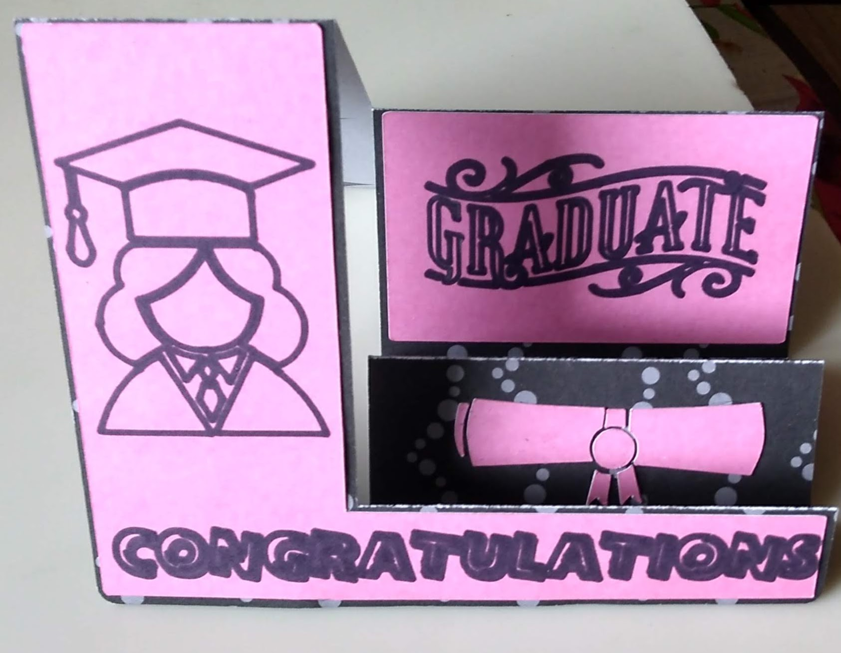 Side Step Graduation Card