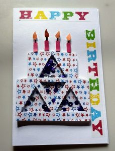 Birthday Cake Shaker Card