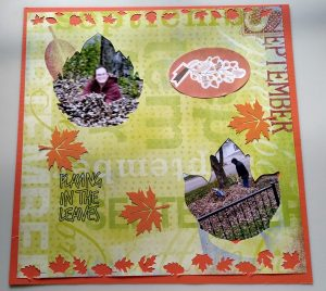 The second page of a Fall scrapbook Page