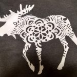 Moose t shirt made with HTV