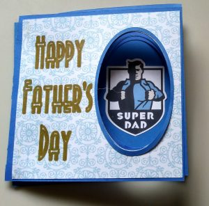 Other View of Peek a Boo Fathers Day Card