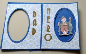Fathers Day Card with Peek a Boo Window