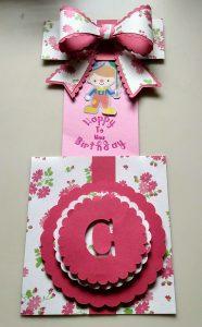 Flowered Present Slider Birthday Card