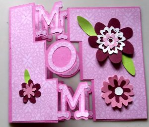 Pink Mom Day Card