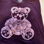 Intricate cut teddy bear shirt