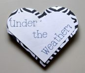 Get Well Soon Heart Fold Card