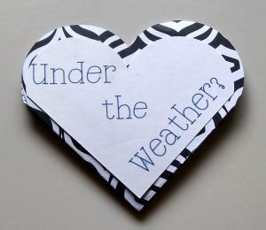 Folded Get Well Heart Card