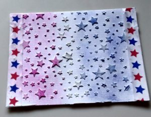 star card made with texture media
