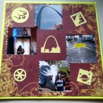 Scrapbook page of my St. Louis Trip