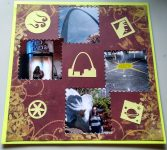 Scrapbook Page for St Louis Trip