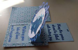 Open wedding Card