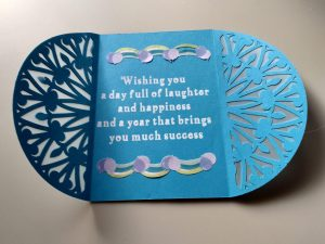 Open Gatefold Birthday Card