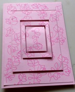 Rose Squares Birthday Card