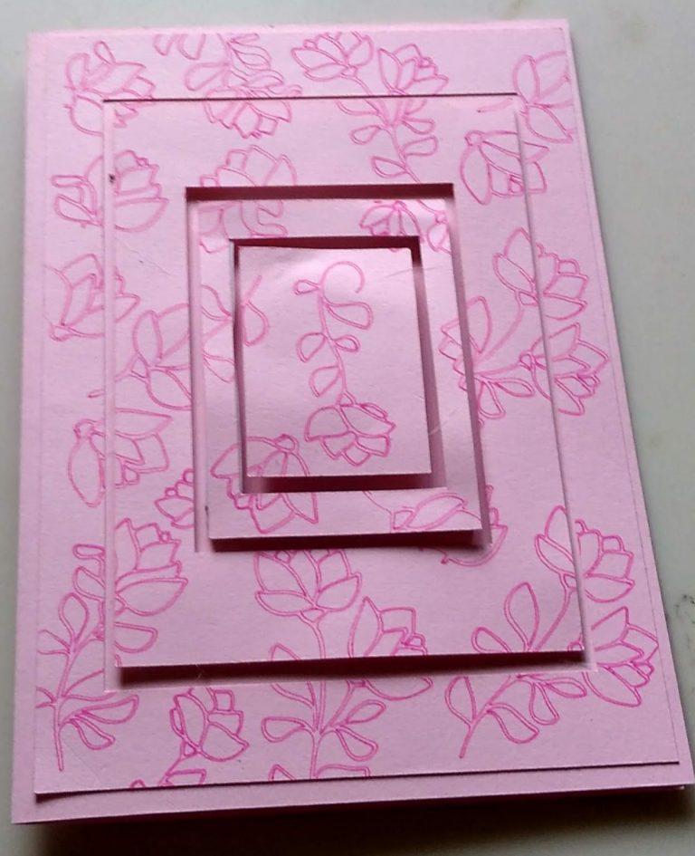 Rose Squares Birthday Card