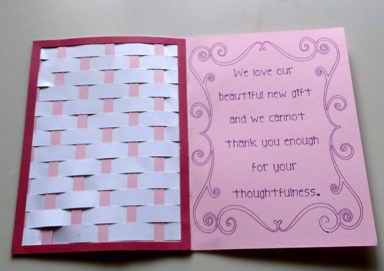 Inside of Weave Thank You Card