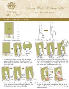 Anna Griffin Pulley Card Instructions