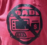 Dad no ATM Shirt close up