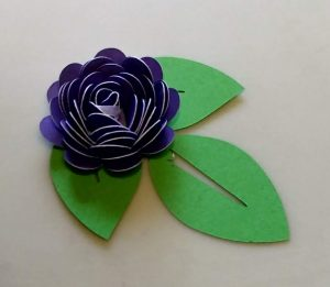 Purple Rolled Flower