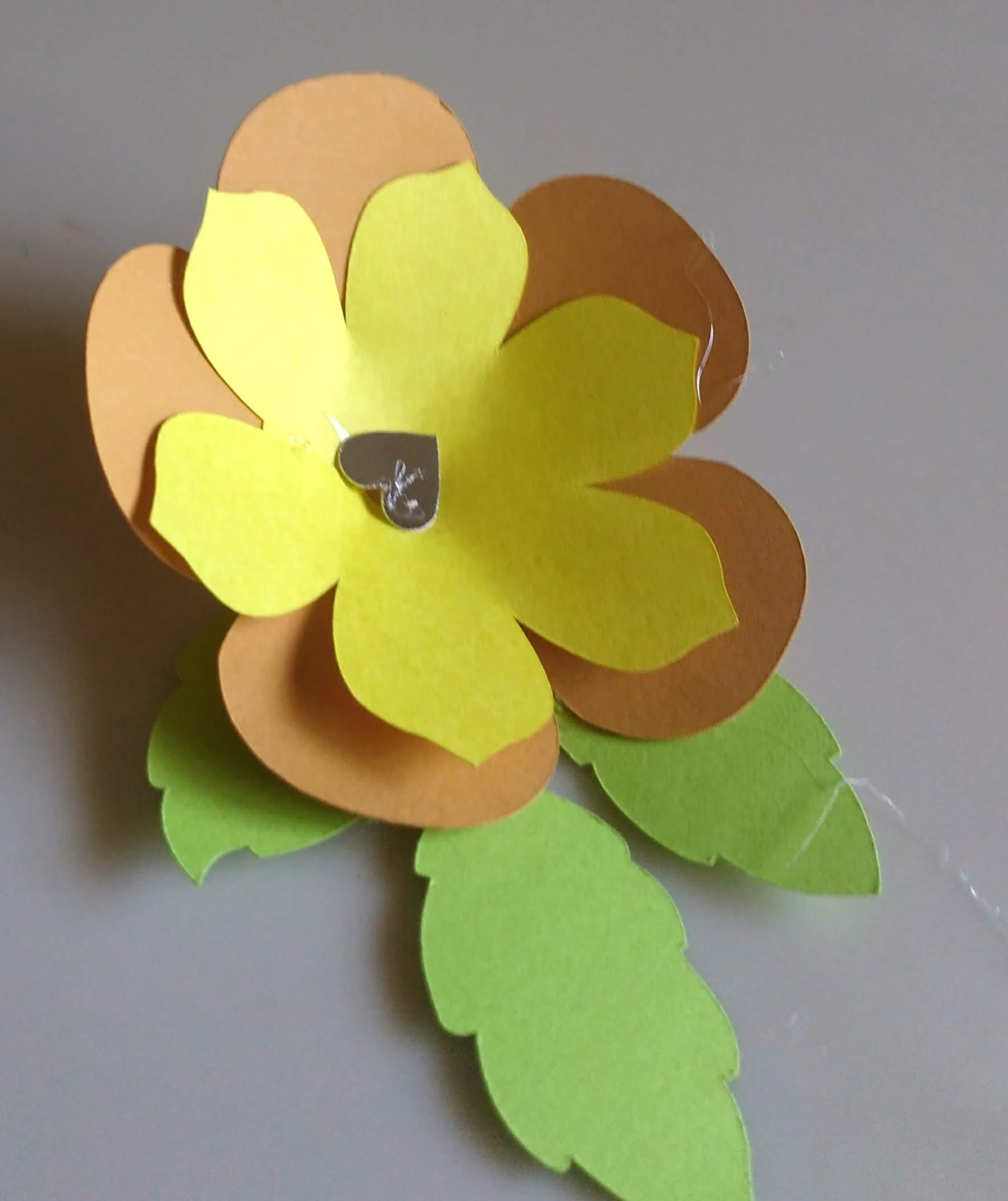 3D Paper Flowers and Leaves