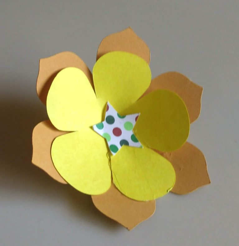 3D paper Flowers without Leaves