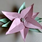 Pink Paper Poinsettia