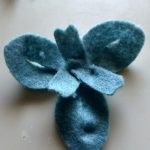 Blue Felt Snowdrop Flower