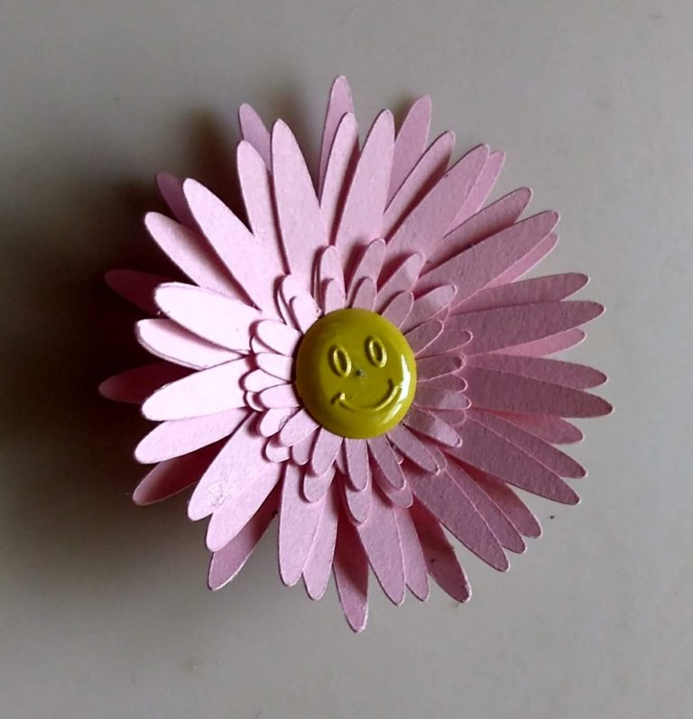 Pink Gerber Daisy paper flower in pink