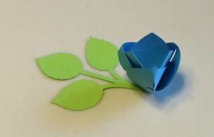 A blue Paper Tulip