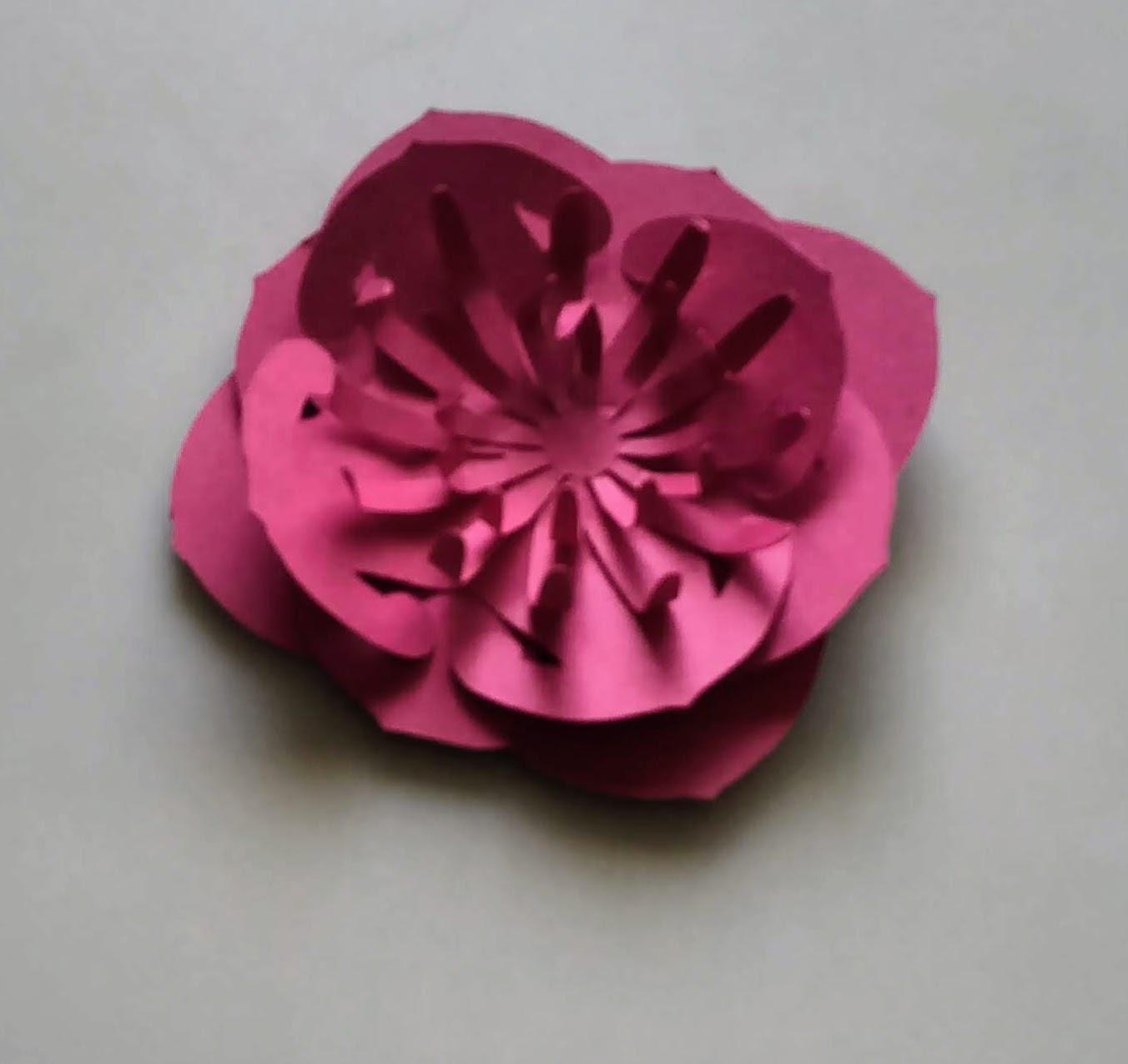 Making a Dahlia Paper Flower