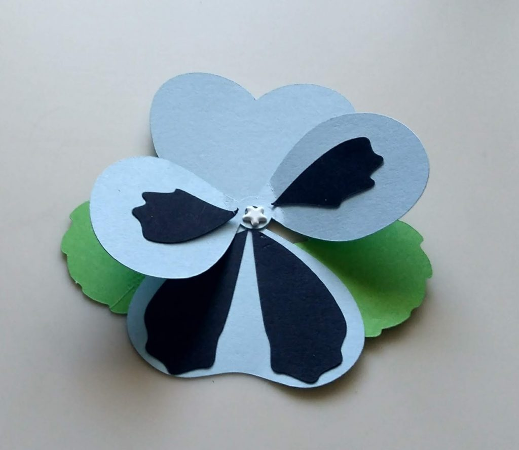 Blue Paper Pansy